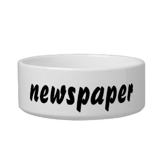 It's a newspaper thing! bowl