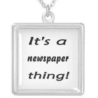 It's a newspaper thing! square pendant necklace