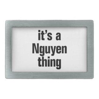 its a nguyen thing rectangular belt buckle
