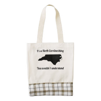 It's A North Carolina Thing Zazzle HEART Tote Bag