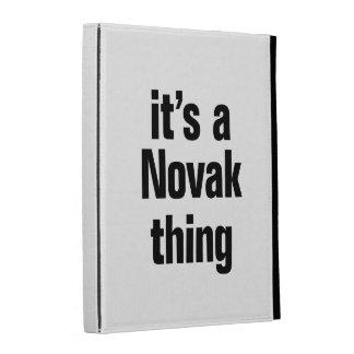 its a novak thing iPad folio covers