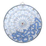 It's a numbers game! Blue Dartboard