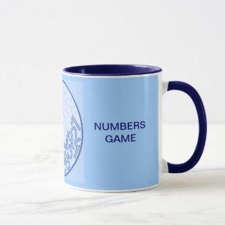 It's a numbers game! Blue Mug