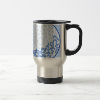 It's a numbers game! Blue Travel Mug