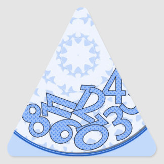 It's a numbers game! Blue Triangle Sticker