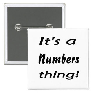 It's a numbers thing! pins
