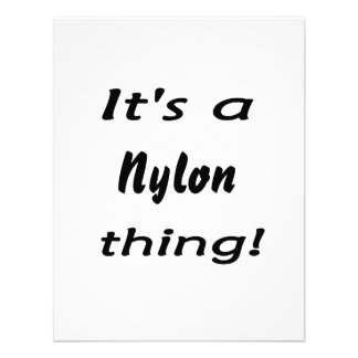 It's a nylon thing! custom announcements
