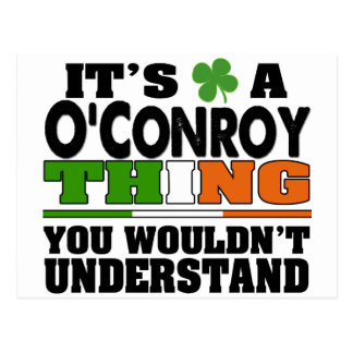 It's a O'Conroy Thing You Wouldn't Understand. Postcard