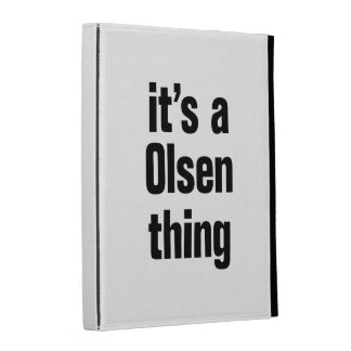 its a olsen thing iPad folio cover