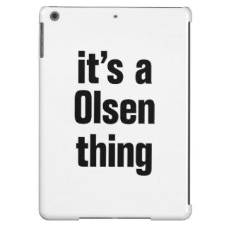 its a olsen thing cover for iPad air