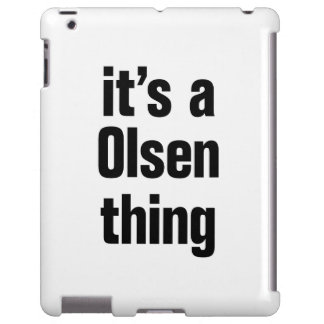 its a olsen thing