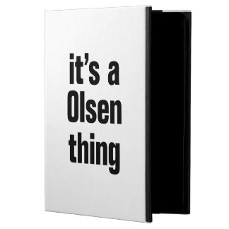 its a olsen thing case for iPad air