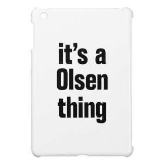 its a olsen thing iPad mini cover