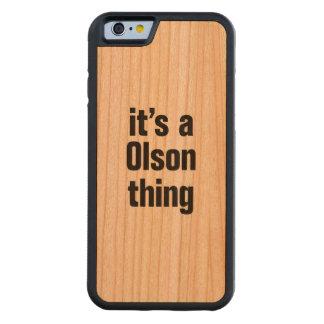 its a olson thing. carved® cherry iPhone 6 bumper case
