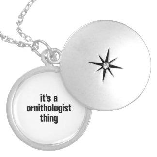 its a ornithologist thing round locket necklace