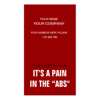 Its a Pain in the Abs - Awareness Double-Sided Standard Business Cards (Pack Of 100)