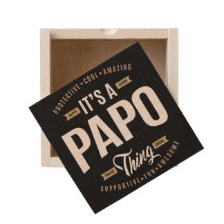 It's a Papo Thing Wooden Keepsake Box