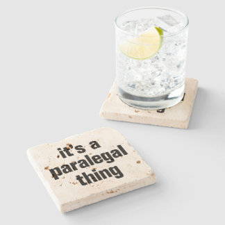 its a paralegal thing stone coaster