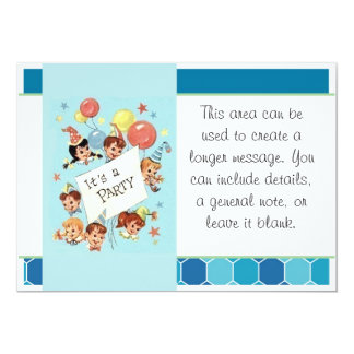 It's a Party 5x7 Paper Invitation Card