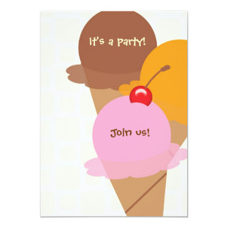 It's a party ice cream birthday party invitation