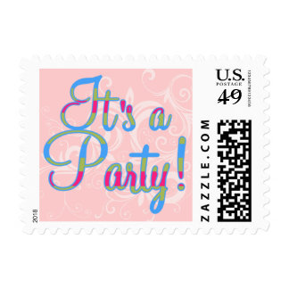 It's A Party Postage - Pink