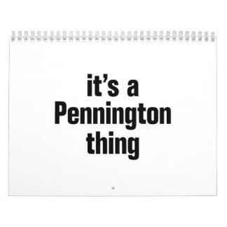its a pennington thing calendar