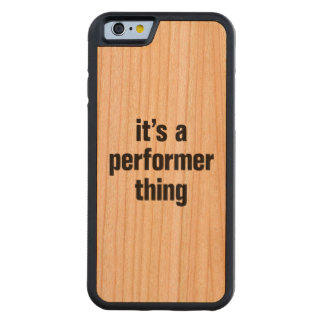 its a performer thing carved® cherry iPhone 6 bumper case