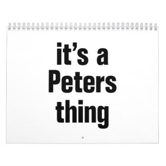 its a peters thing calendar