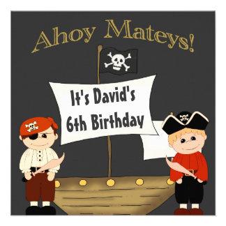 It's A Pirate Life Boys Birthday For Me Custom Invitations