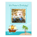"It's a Pirate party time invitation! 4.25"" X 5.5"" Invitation Card"