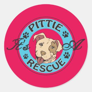It's A Pittie Classic Round Sticker