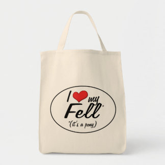 It's a Pony! I Love My Fell Canvas Bags