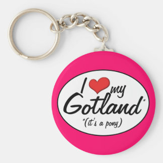 It's a Pony! I Love My Gotland Keychain