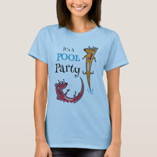 It's A Pool Party With Otters T-Shirt