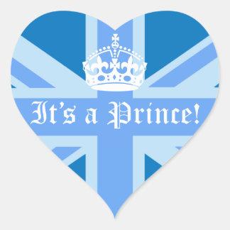 It's a Prince! Heart Sticker