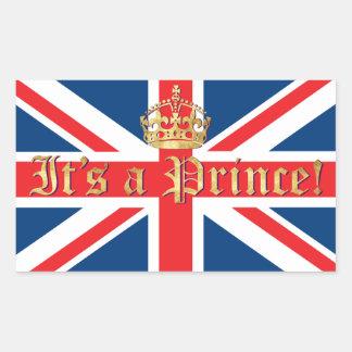 It's a Prince! Rectangular Sticker