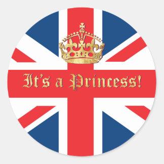 It's a Princess! Classic Round Sticker