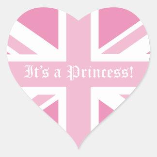 It's a Princess! Heart Sticker