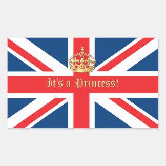 It's a Princess! Rectangular Sticker