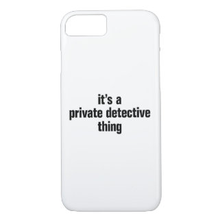 its a private detective thing iPhone 8/7 case