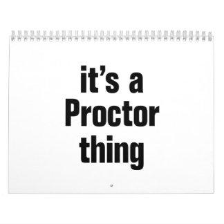 its a proctor thing calendar