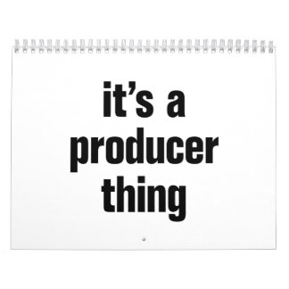 its a producer thing calendar