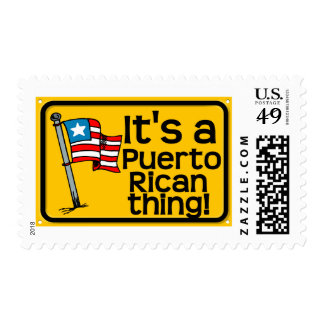 It's a puerto rican thing postage