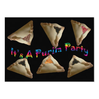 It's A Purim Party Card