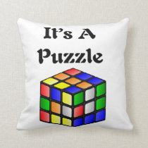 It's A Puzzle cube Throw Pillow