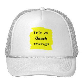 It's a quack thing! mesh hat