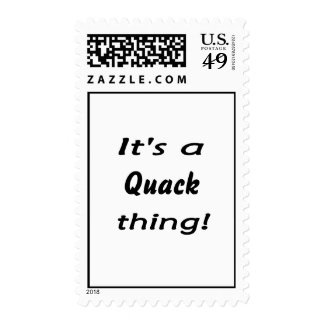 It's a quack thing! postage stamps