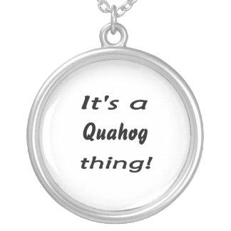 It's a quahog thing! round pendant necklace