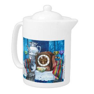 It's a Quarter to Three Teapot