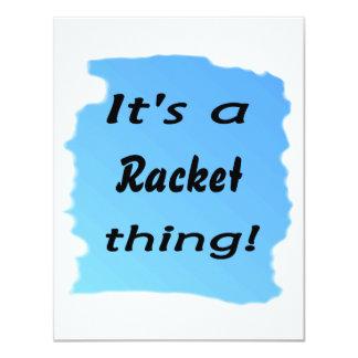 It's a racket thing! custom invitation